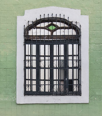 Window and Green Paint, Merida, Mexico