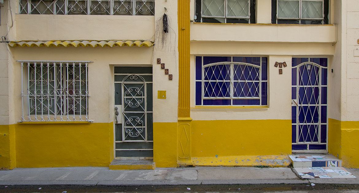 Yellow Doors in Havana, Cuba