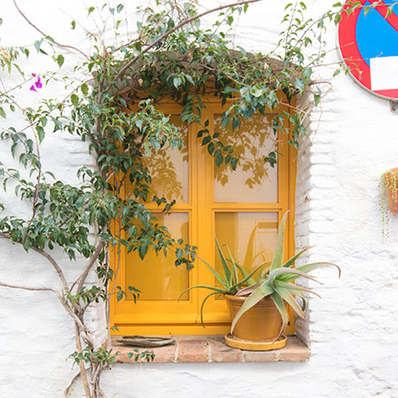 Yellow Window in Cadaques, Spain