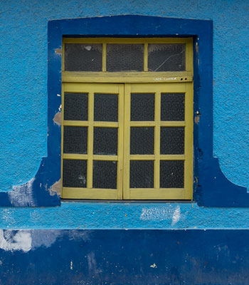 Window with flowers in Trinidad, Cuba
