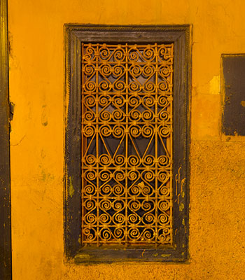 Wellow Window, Marrakech